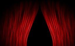 窗帘红色 库存照片