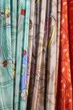 窗帘织品 免版税图库摄影