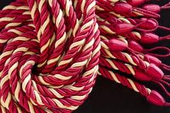 窗帘绳索丝绸缨子 免版税库存图片