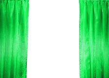 窗帘绿色 免版税库存照片