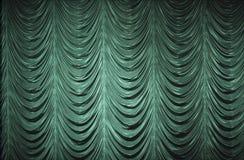 窗帘绿色 图库摄影