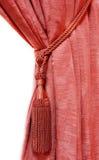 窗帘豪华红色 免版税库存图片