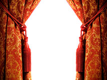 窗帘豪华 免版税库存图片