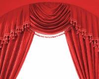 窗帘释放豪华中间空间 免版税库存照片
