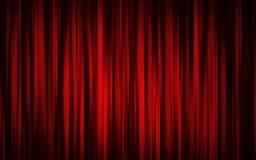 窗帘阶段剧院 免版税库存照片