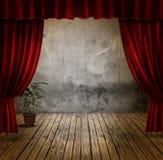 窗帘阶段天鹅绒 图库摄影