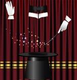 窗帘魔术 免版税库存照片