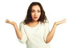 窘迫妇女 免版税库存图片