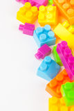 建立五颜六色的块的玩具 库存图片