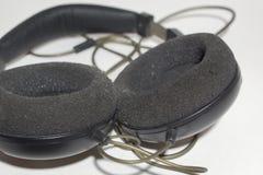 立体声耳机导线的基地  免版税库存照片