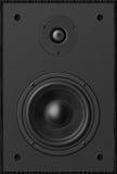 立体声音乐音响器材低音合理的报告人,黑声音spe 免版税图库摄影
