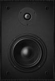 立体声音乐音响器材低音合理的报告人,黑声音spe 免版税库存图片