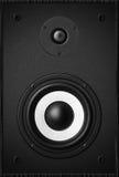 立体声音乐音响器材低音合理的报告人 库存图片