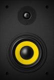 立体声音乐音响器材低音合理的报告人 图库摄影
