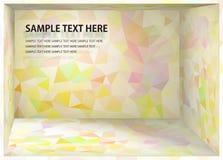 立体派背景淡粉红和黄色深度空间 库存例证