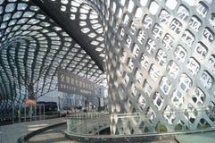 建立内部风景的深圳湾体育中心 免版税库存图片