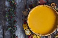 立即可食的感恩的自创南瓜饼 顶视图 图库摄影