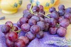 立即可食葡萄的 图库摄影