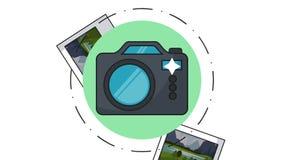 立即照片和照相机HD动画 向量例证