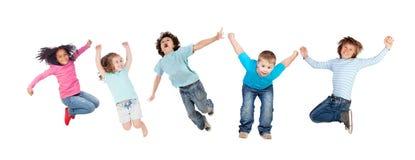 立即跳的孩子的 免版税图库摄影