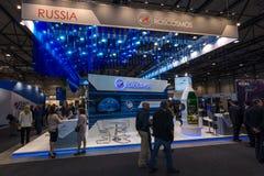 立场状态矢量空间公司- Roscosmos (俄罗斯) 免版税库存照片