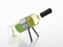 白葡萄酒瓶 免版税库存图片