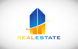 建立房地产商标象设计的摩天大楼 免版税库存照片