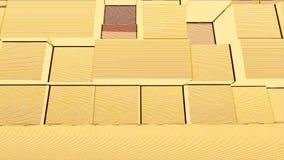立方体交通以黄色 摘要被环绕的立方体移动 装饰几何caleidoscope星移动的样式动画 向量例证