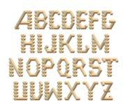 从立方体和rhombs的等量3d字体 免版税库存图片