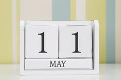立方体形状日历5月11日 免版税库存照片