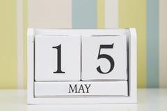 立方体形状日历5月15日 免版税库存照片