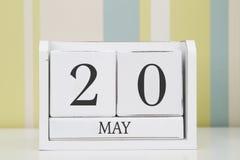 立方体形状日历5月20日 免版税库存图片