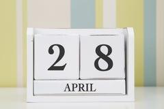 立方体形状日历5月28日 免版税库存图片