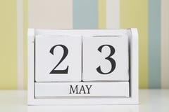 立方体形状日历5月23日 免版税库存照片