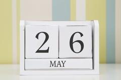 立方体形状日历5月26日 免版税图库摄影