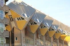 立方体房子在鹿特丹,荷兰 免版税库存图片