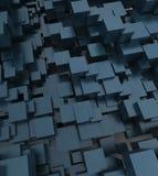 立方体抽象的背景 免版税库存图片
