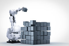 立方体机器人胳膊的修造 图库摄影