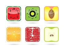 立方体果子 库存图片