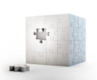立方体状的难题 库存例证