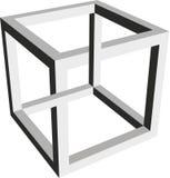 立方体的不可能的形式 库存例证