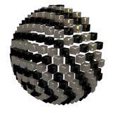 立方体的半球 免版税库存照片