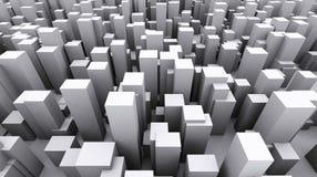 立方体的城市 皇族释放例证