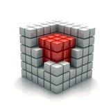 立方体的核心 库存例证