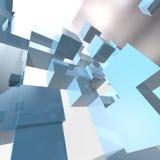 立方体的背景 向量例证