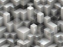 从立方体的建筑结构。抽象建筑学背景 库存照片