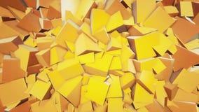 立方体背景 股票视频
