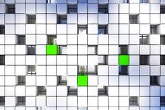 立方体背景 免版税库存图片