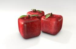 立方体苹果 免版税库存照片
