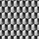 立方体行错觉 库存图片